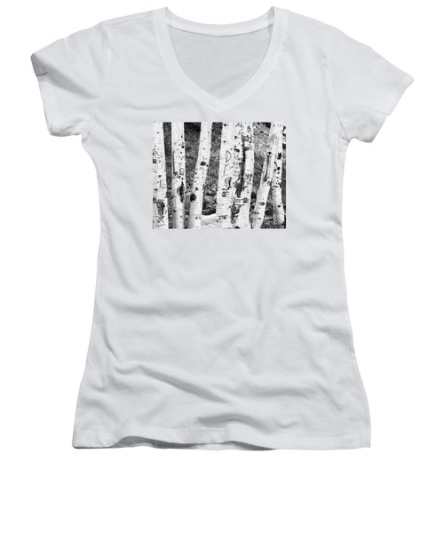 Tattoo Trees Women's V-Neck (Athletic Fit)