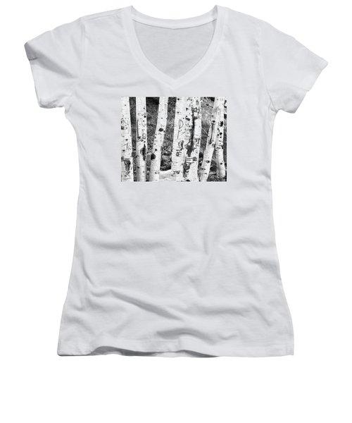 Tattoo Trees Women's V-Neck T-Shirt