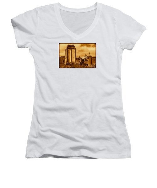 Temple Of Vesta Women's V-Neck T-Shirt