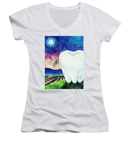That's No Baby Tooth Women's V-Neck T-Shirt (Junior Cut) by Shana Rowe Jackson