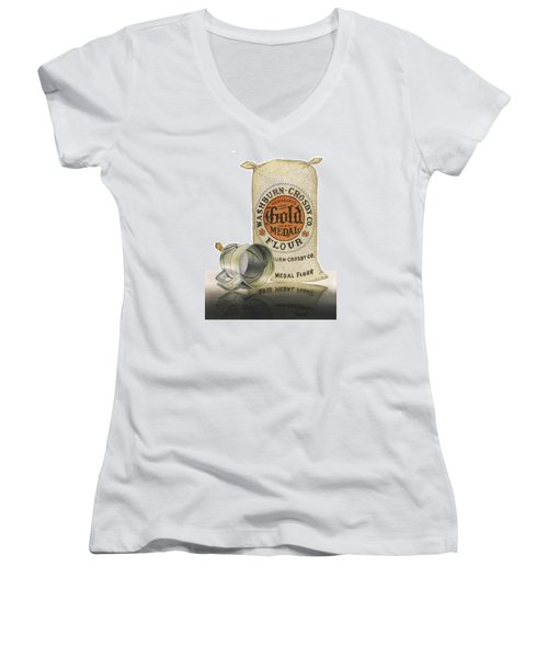 Women's V-Neck T-Shirt (Junior Cut) featuring the painting The Bakers Choice by Ferrel Cordle
