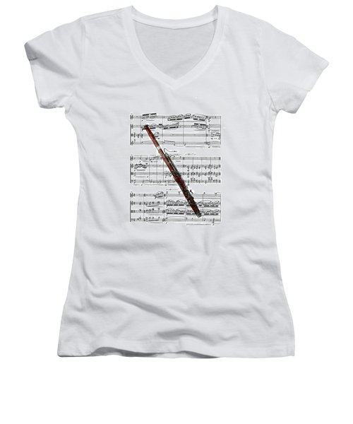 The Bassoon Women's V-Neck T-Shirt