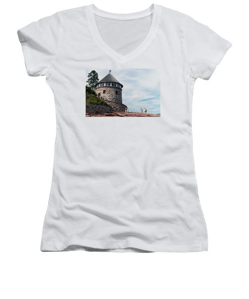 The Bath House On Ministers Island Nb Women's V-Neck