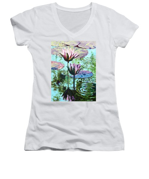 The Beauty Of The Lilies Women's V-Neck T-Shirt