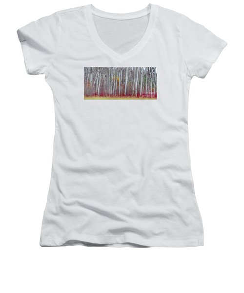 The Birches Panorama  Women's V-Neck