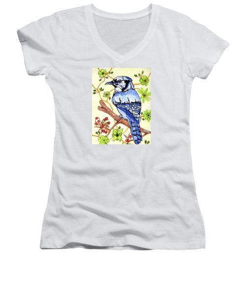 The Bird In My Yard Women's V-Neck T-Shirt