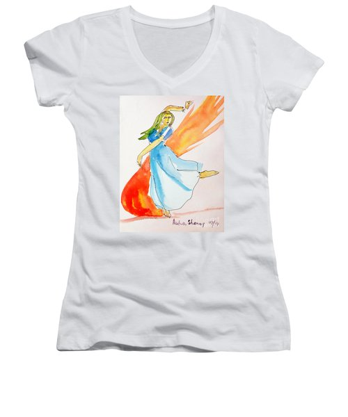 The Blazing Dancer Women's V-Neck (Athletic Fit)
