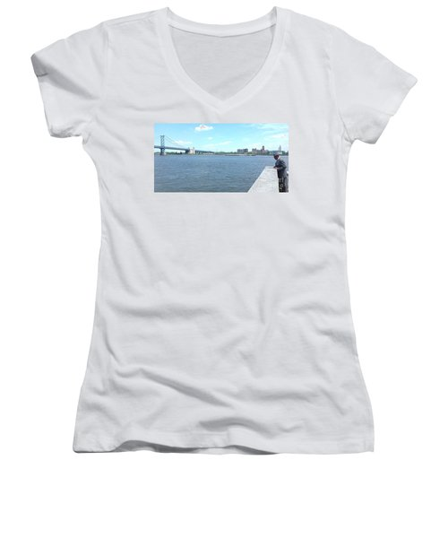 The Bridge And The River Women's V-Neck