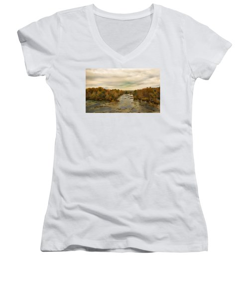 The Broad River Women's V-Neck T-Shirt