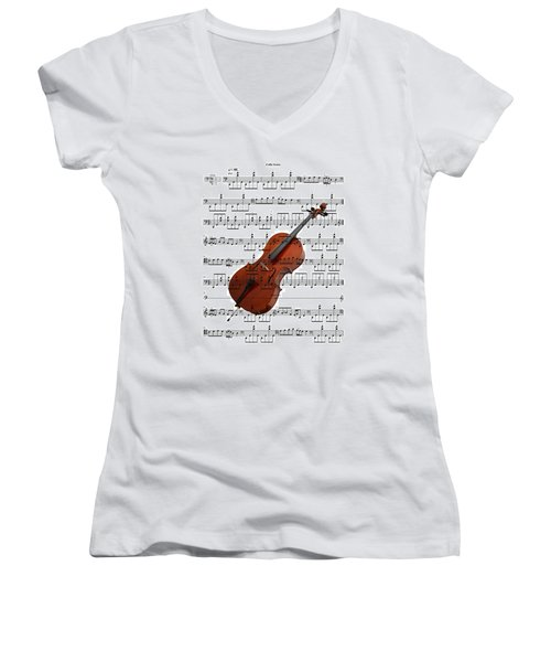 The Cello Women's V-Neck T-Shirt