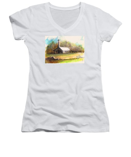 The Church Women's V-Neck (Athletic Fit)