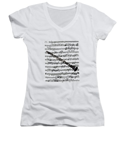 The Clarinet Women's V-Neck T-Shirt