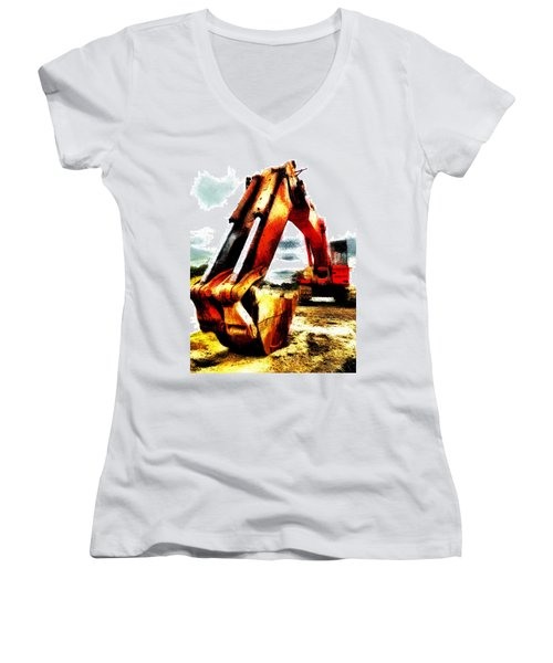The Crab Claw Women's V-Neck T-Shirt