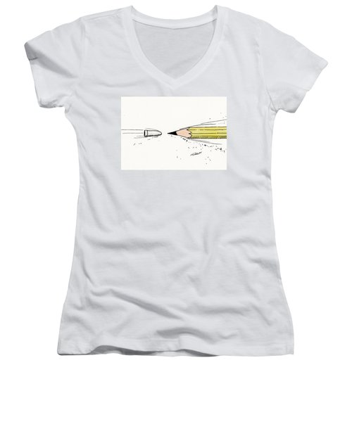 The Draw Women's V-Neck (Athletic Fit)