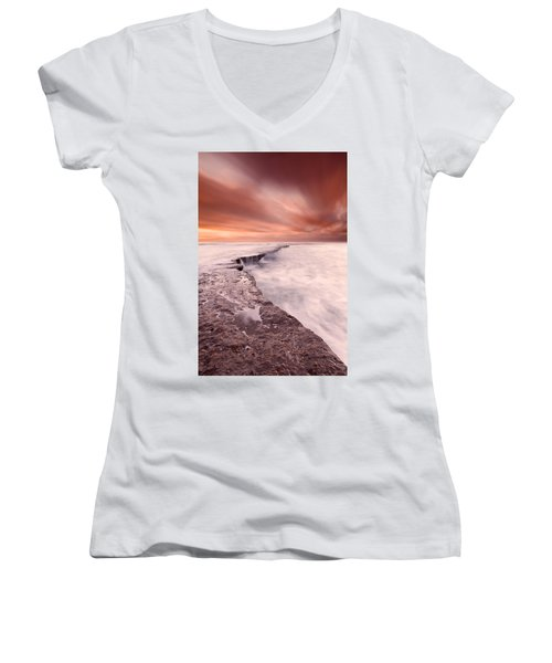 The Edge Of Earth Women's V-Neck (Athletic Fit)