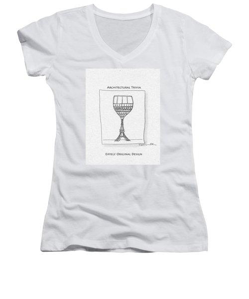 The Eiffel Tower Women's V-Neck T-Shirt
