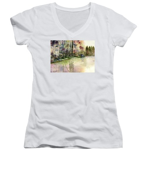 The End Of Wonderful Day Women's V-Neck T-Shirt