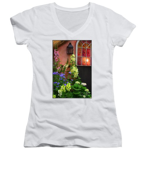 The English Cottage Window Women's V-Neck (Athletic Fit)