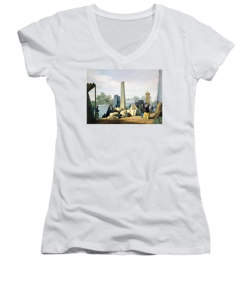 The Exterior, From Dickinsons Women's V-Neck T-Shirt (Junior Cut) by English School