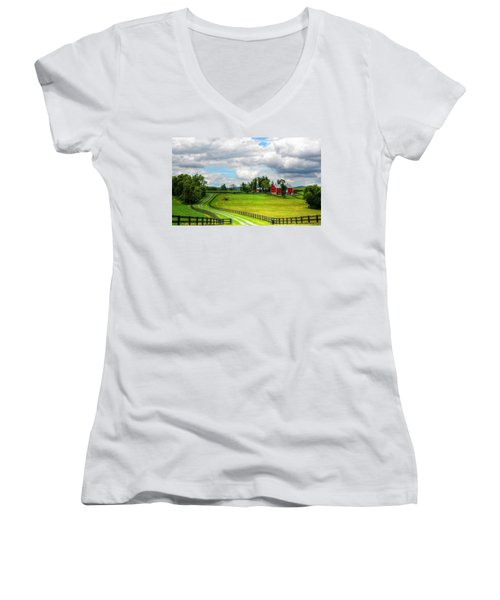 The Farm Women's V-Neck T-Shirt (Junior Cut) by Ronda Ryan