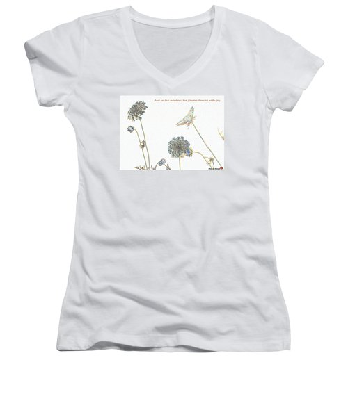 The Flowers Danced Women's V-Neck (Athletic Fit)
