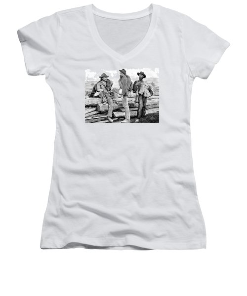 The Forgotten Soldiers Women's V-Neck (Athletic Fit)