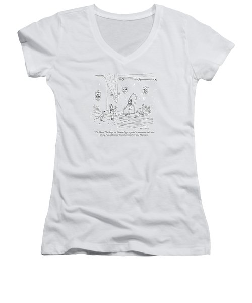 The Goose That Lays The Golden Eggs Is Proud Women's V-Neck