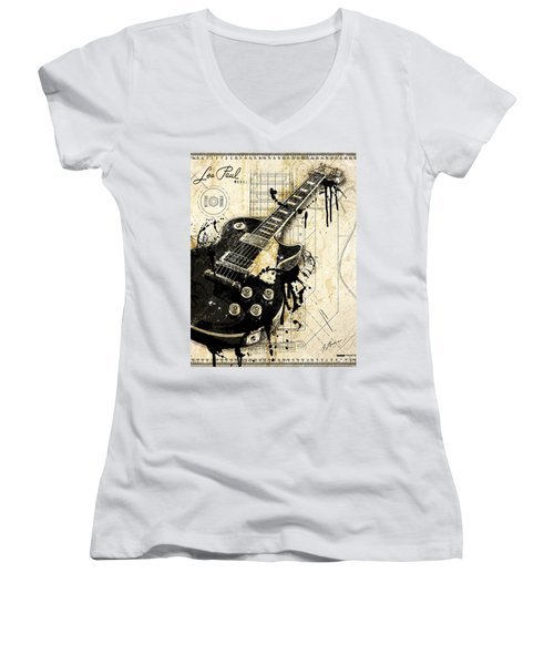 The Granddaddy Women's V-Neck T-Shirt (Junior Cut) by Gary Bodnar