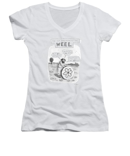 'the Guy Who Invented The Weel' Women's V-Neck