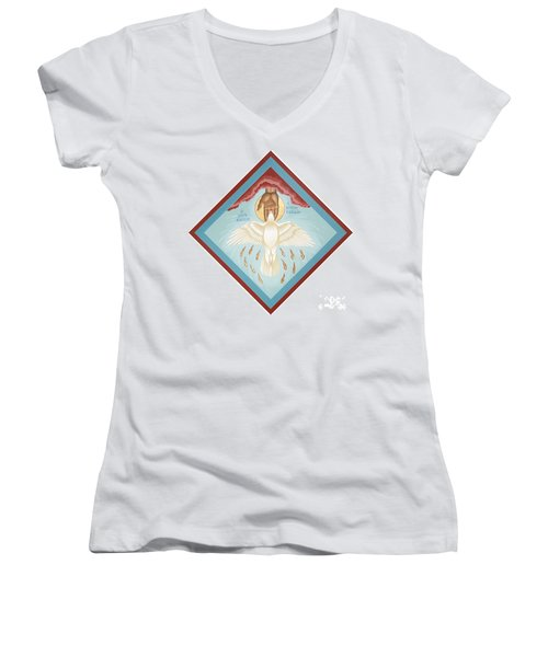 The Holy Spirit The Lord The Giver Of Life The Paraclete Sender Of Peace 093 Women's V-Neck
