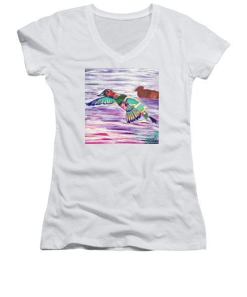 The King Canvasback Women's V-Neck (Athletic Fit)