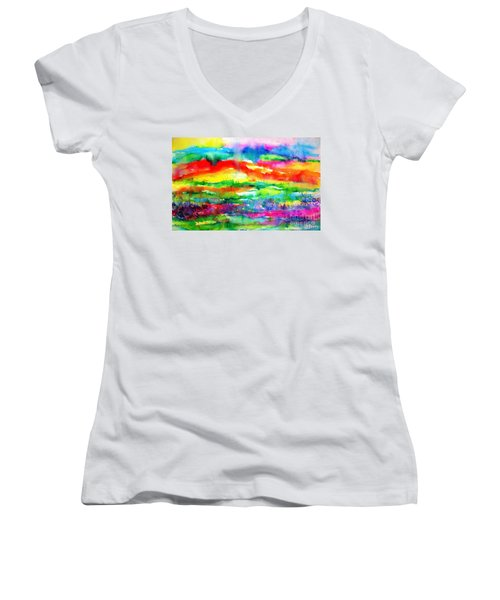 The Living Desert Women's V-Neck T-Shirt