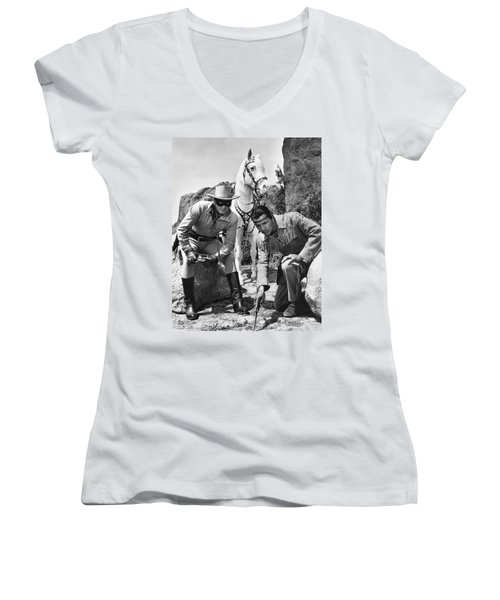 The Lone Ranger And Tonto Women's V-Neck