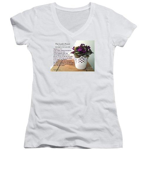 The Lords Prayer Women's V-Neck T-Shirt