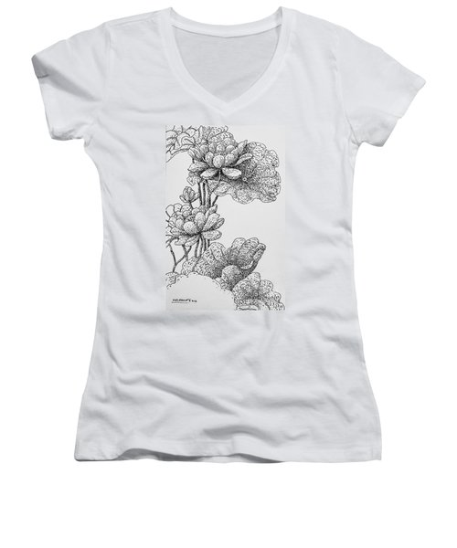 The Lotus Flower Women's V-Neck (Athletic Fit)