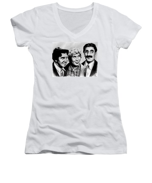 The Marx Brothers Women's V-Neck T-Shirt