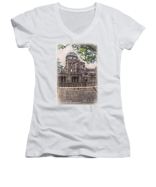 Women's V-Neck T-Shirt (Junior Cut) featuring the photograph The Memorial by Hanny Heim