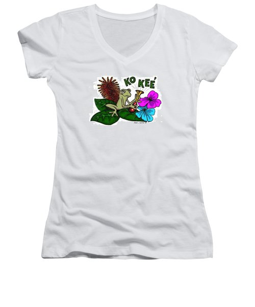 The Night Sound Of Puerto Rico Women's V-Neck