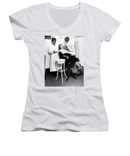The North Harlem Dental Clinic Women's V-Neck T-Shirt