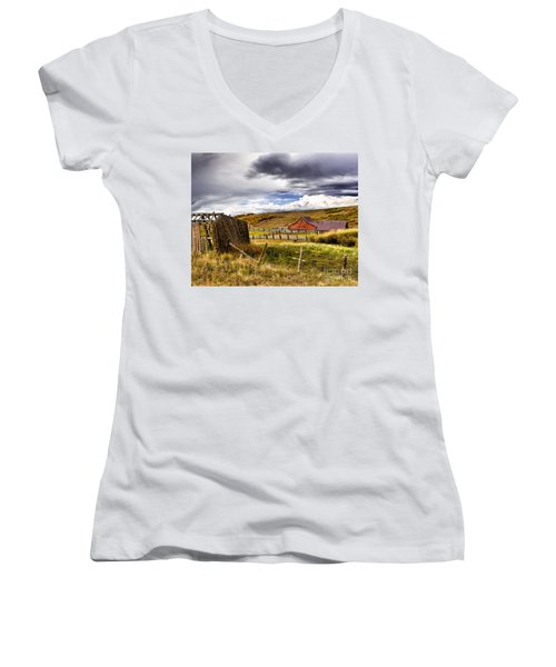 The Ol' Homestead Women's V-Neck (Athletic Fit)
