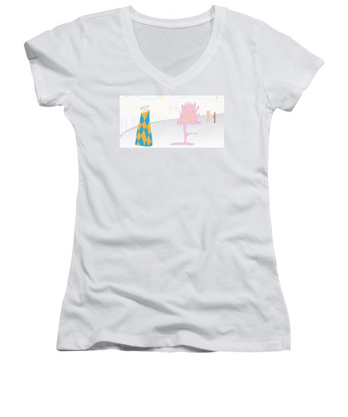 The Partygoers Women's V-Neck T-Shirt