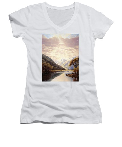 The Path Of Life Women's V-Neck