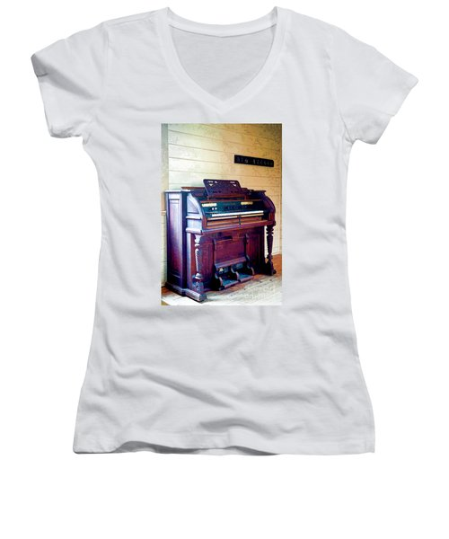 The Piano Women's V-Neck (Athletic Fit)