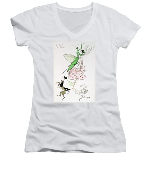 The Poets Corner Women's V-Neck T-Shirt