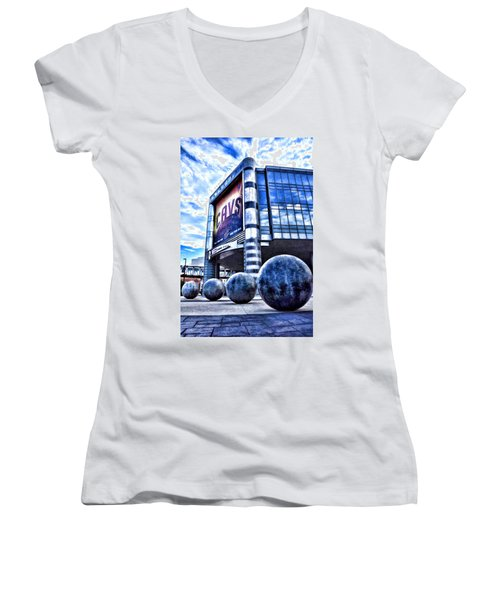 The Q - Home Of The 2016 Nba Champion Cleveland Cavaliers - 1 Women's V-Neck (Athletic Fit)