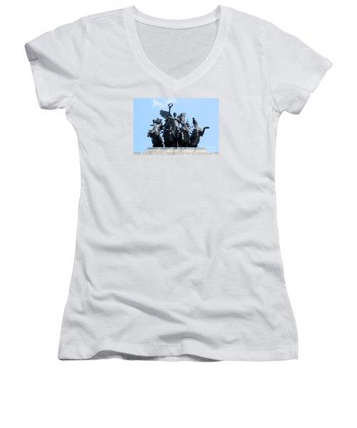 The Quadriga Women's V-Neck T-Shirt