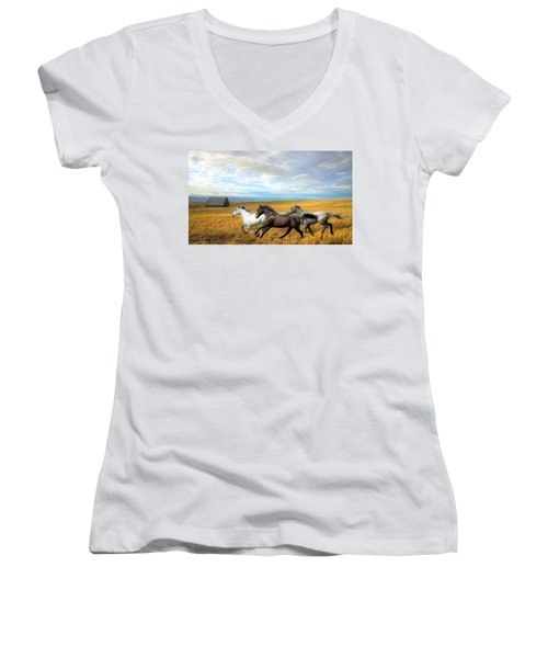 The Race Women's V-Neck (Athletic Fit)