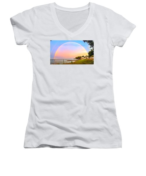 The Rainbow Women's V-Neck (Athletic Fit)