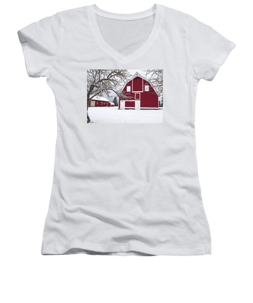 The Red Barn Women's V-Neck