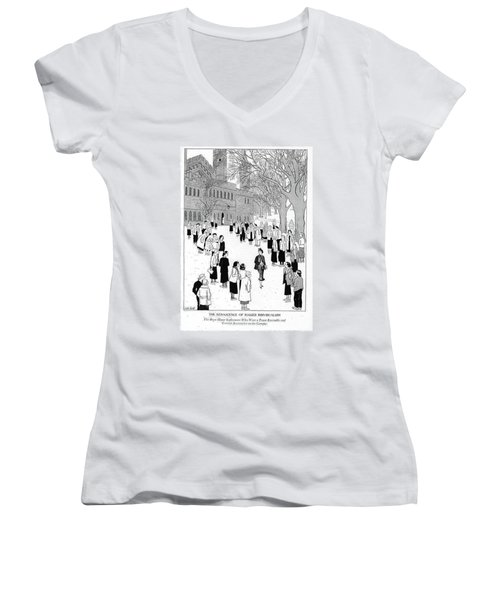 The Renascence Of Rugged Individualism  The Bryn Women's V-Neck